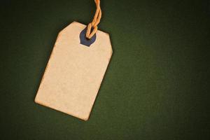 lege korting vintage prijskaartje label als kopie ruimte foto
