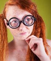 heerlijk nerdy meisje foto