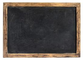 vintage schoolbord of school leisteen foto