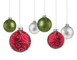 kerstballen met kopie ruimte foto