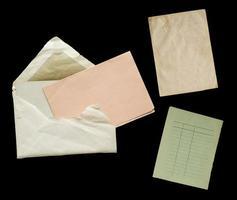 vintage papieren voorwerpen, vrije exemplaarruimte foto