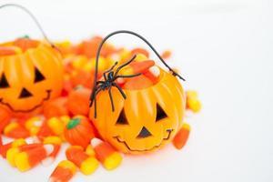 Halloween snoep achtergrond met kopie ruimte