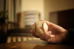 oude, antieke honkbal, retro scèneserie