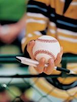 honkbal handtekening, fan foto