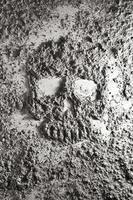 menselijke schedel gemaakt van as foto