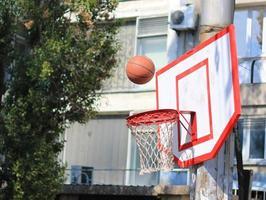 straat basketbal foto
