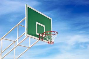 basketbal achtergrond hemel foto