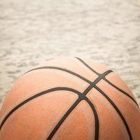 oude basketbal foto