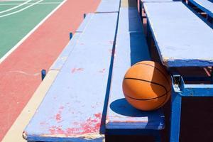 basketbal in tribunes foto