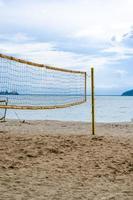 netto volleybal op het strand foto