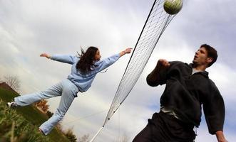 paar volleyballers foto