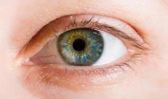 macro-opname van het menselijk oog foto