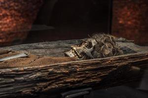 grijnzende schedel foto