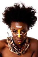 Afrikaanse tribale schoonheid gezicht foto
