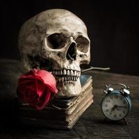 stilleven schedel foto