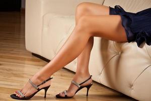 lange benen van de vrouw