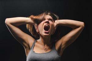schreeuwend meisje