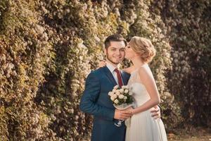 romantisch bruidspaar foto