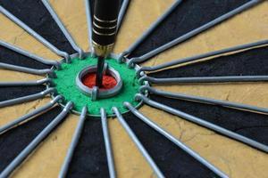 dartbord close-up foto
