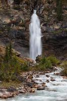 verticale weergave van lachende watervallen, yoho national park foto