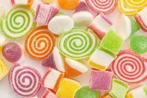 close-up kleurrijke snoep