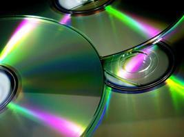 cd / dvd close-up foto