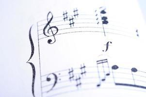 bladmuziek close-up foto