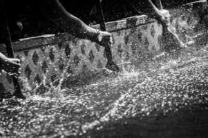 drakenboot close-up foto