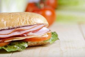sandwich op close up foto