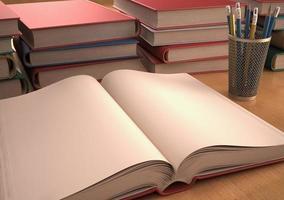 open boek foto