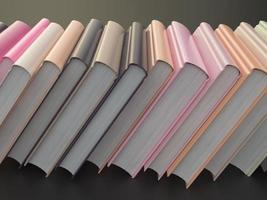 lege kleurenboek mockup sjabloon op zwarte achtergrond
