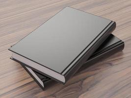 mockup van het boek met een zwarte kaft