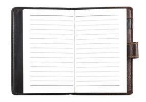 papieren notitieboek foto