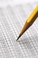 financiële gegevens analyseren - stock beeld foto