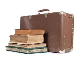 koffer en boek foto