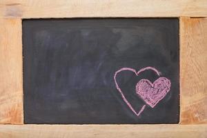 twin heart schoolbord foto