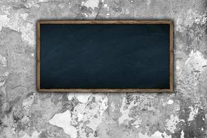 schoolbord op de muur foto