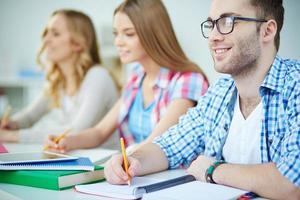 studenten bij les foto