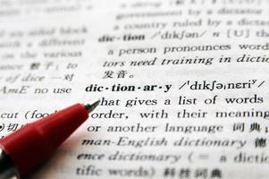 het woord woordenboek foto
