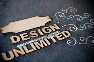 ontwerptekening op bord foto