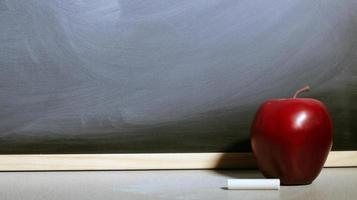 Apple schoolbord foto