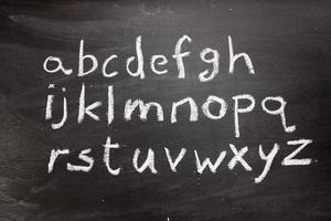 schoolbord alfabet foto