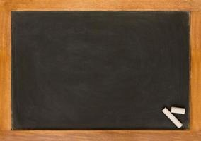 schoolbord en krijt foto