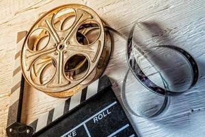 film camera krijtbord en roll