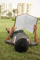 aan het studeren