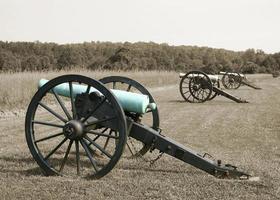kanonnen van de burgeroorlog - kleurstudie foto