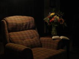 rustgevende stoel foto