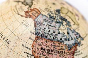 globe Noord-Amerika foto