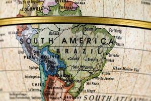 globe Zuid-Amerika foto