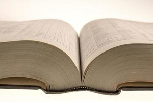 boek van 3000 pagina's geopend foto